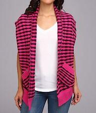 Fox Shifter Cardigan Women's Fashion Open-front Sweater Poncho Striped S NWT -