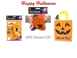 Halloween Party Decoration Balloons Loot Sweet Bag Trick Or Treat Spooky Lot