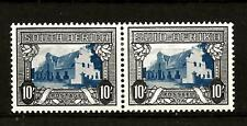 SOUTH AFRICA (788)1933-48 SG64c 10/- BLUE & SEPIA PAIR OF 2 MM / MH