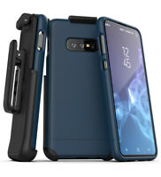 Encased Samsung Galaxy S10 Plus Belt Clip Slim Case w/ Holster (Slimshield) Blue
