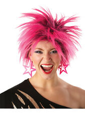 Adult 80s Spiky Wig Fancy Dress Costume Punk Glam Rocker Ladies Womens