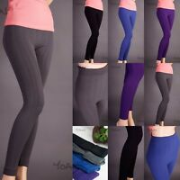 Dia -FLEECE footless leggings ribbed knit thick Pants One Size W5004 Yoain