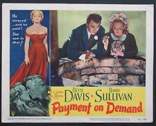 PAYMENT ON DEMAND BETTE DAVIS BARRY SULLIVAN LOBBY CARD 8