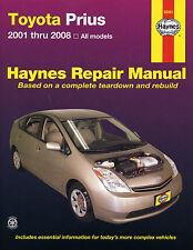 Haynes Taller reparación Manual Del Propietario Toyota PRIUS 2001 - 2008 Usa Todos Los Modelos Nuevos