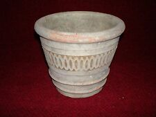Light Green Ceramic Orchid/Bonsai Pot Carved Design USED circa 1997