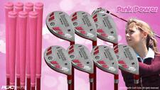 "Petite Women's iDrive Golf Clubs Pink Hybrid (5-SW) Full Set Lady ""L"" Flex Clubs"