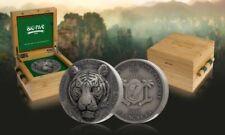 TIGER - FIRST coin of the serie Big Five Asia 5 OZ Silver Coin 2021 w/box+CoA