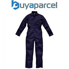 Dickies Navy Blue Coverall Overall Stud Front Size 40 WD4829N40