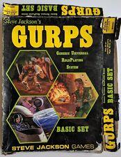 Steve Jackon's GURPS Basic Set 1st Edition 1986 RPG Board Game Unpunched