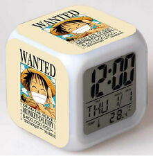 One Piece Wanted 7 Color Change LED Night light Digital Glowing Alarm Clock G1