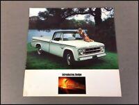 1968 Dodge Adventurer Pickup Truck Original Vintage Sales Brochure Catalog