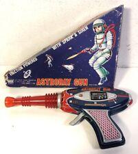 Vintage Tin Litho Friction Astroray Gun Space W Box