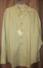 2e3924a0 Men's Stubbs Pasture Green Long Sleeve Western Shirt NWT With Buttons Size  XL
