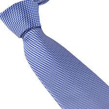 HEROBEHAVIOR Men's Ties Blue With Silver Arrows Striped NeckTie Skinny Tie 7cm