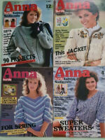 Anna Burda Knitting and Needlecraft Magazines x 4 Dec 1983/Feb-Apr 1984