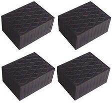 4 X bloc de caoutchouc 160x120x80 mm. pour Pont elevateur - tampons Italie