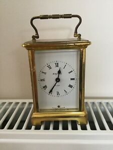 Bayard 8 Day Brass Carriage Clock Duverdrey and Bloquel France 9 jewels working
