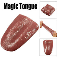 Pranks Tongue Trick Magic Horrible Tongue Fake Tounge Realistic Elasticity Toy