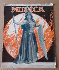 Revue : MUSICA N°83 Août 1909 Numéro essentiellement consacré à Liszt