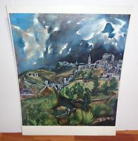 "El Greco Vintage Print ""View of Toledo"" Shorewood Publishers Print"