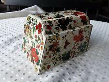 Vintage England Tin floral design hinged