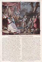 Gravure XVIIIe Louis Joseph Bourbon Duc Vendôme Victoire Villaviciosa