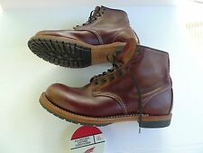 RED WING - BECKMAN 9011-ROUND TOE BOOTS-BLACK CHERRY LEATHER-MADE IN USA-10D