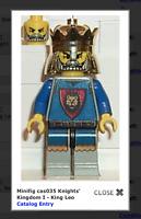 LEGO CASTLE KNIGHTS KINGDOM I KING LEO GENUINE MINI FIGURE MINIFIG 6091new