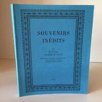 SOUVENIRS Inédits de M. Le Comte CHABROL DE VOLVIC