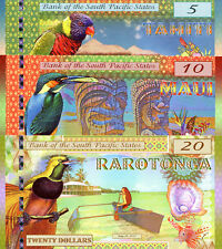 SOUTH PACIFIC STATES 5-20 dollars Fun-Fantasy Note 2015 Birds 5 note set