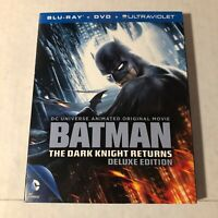 Batman The Dark Knight Returns Deluxe Edition Blu-ray 2 Disc Animated Movie