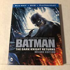 Batman The Dark Knight Returns Deluxe Edition Blu-ray 2 Disc Animated Movie