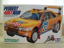 TAMIYA - PEUGEOT 405T16GR WRC '90 PARIS-DAKAR RALLY WINNER - MODEL KIT (OPENED)