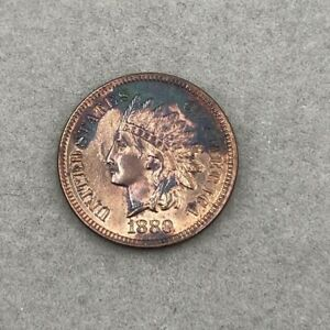 1880 Indian Head Cent Penny US Coin BU D134