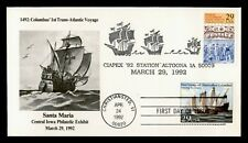 DR WHO 1992 CHRISTOPHER COLUMBUS FIRST VOYAGE FDC C212730
