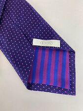 ETON Men's 100% Silk Necktie Dotted Textured Purple Blue Woven In England