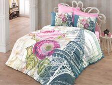 3D Eiffel Tower 100% Cotton Paris Bed Doona/Quilt/Duvet Cover Set Double Queen