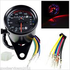 12V Round Type Motorcycle ATV LED Backlight Dual Odometer KMH Speedometer Gauge