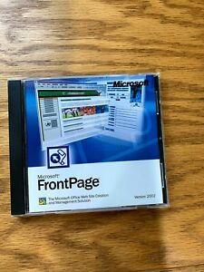 MS FrontPage Version 2002 Upgrade