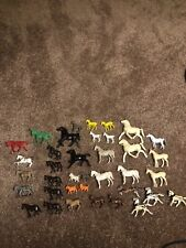 Huge Lot of Vintage Plastic Horses Animals