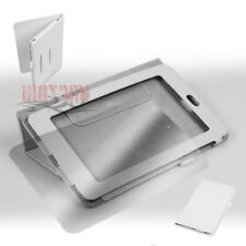 """CASE COVER+SCREEN PROTECTOR POUCH PU LEATHER WHITE GOOGLE ASUS NEXUS 7"""" TABLET"""