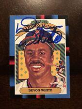 Devon White 1987 Donruss Diamond King Autographed Signed Auto Baseball Card 8