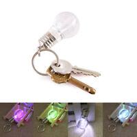 7 Colors LED Flash Lights Mini Bulb Torch Key Chain Key Ring Flashlight Portable