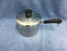 REVERE WARE Stainless Steel/Copper Clad 1 1/2 Qt Pot & Lid Rome, NY USA GUC