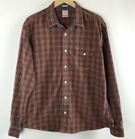 Lucky Brand Mens Shirt Slim Fit Button Front Long Sleeve Plaid Size XXL