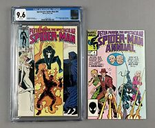 Lot of 2: Spectacular Spider-Man #94,9/84, CGC 9.6, White Pages + Annual #4