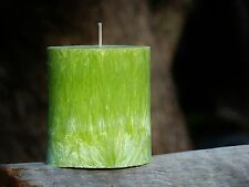 80hr INDIAN NIGHT TIME JASMINE Triple Scented Natural OVAL Pillar Candle VIOLETS
