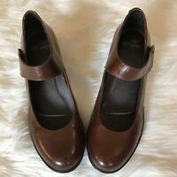 Dansko Brown Leather Upper Bess Mary Jane Size 40 /9 Comfort Shoes EUC
