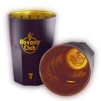 2 Stück originale Havana® Club Longdrink Gläser (7) - 0,34l - Schwarz Gold
