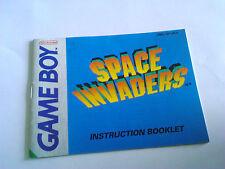 NINTENDO GAMEBOY SPACE INVADERS INSTRUCTION BOOKLET
